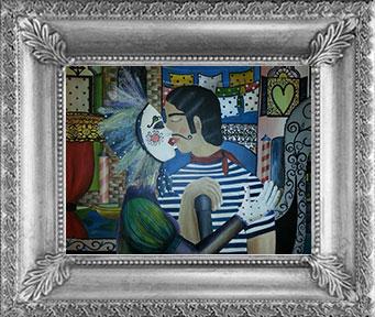 Výstava obrazů - Piccola storia de grande amore, podzim 2013