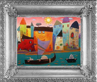 Tři loďky, dva ptáci – jeden přístav, únor 2014